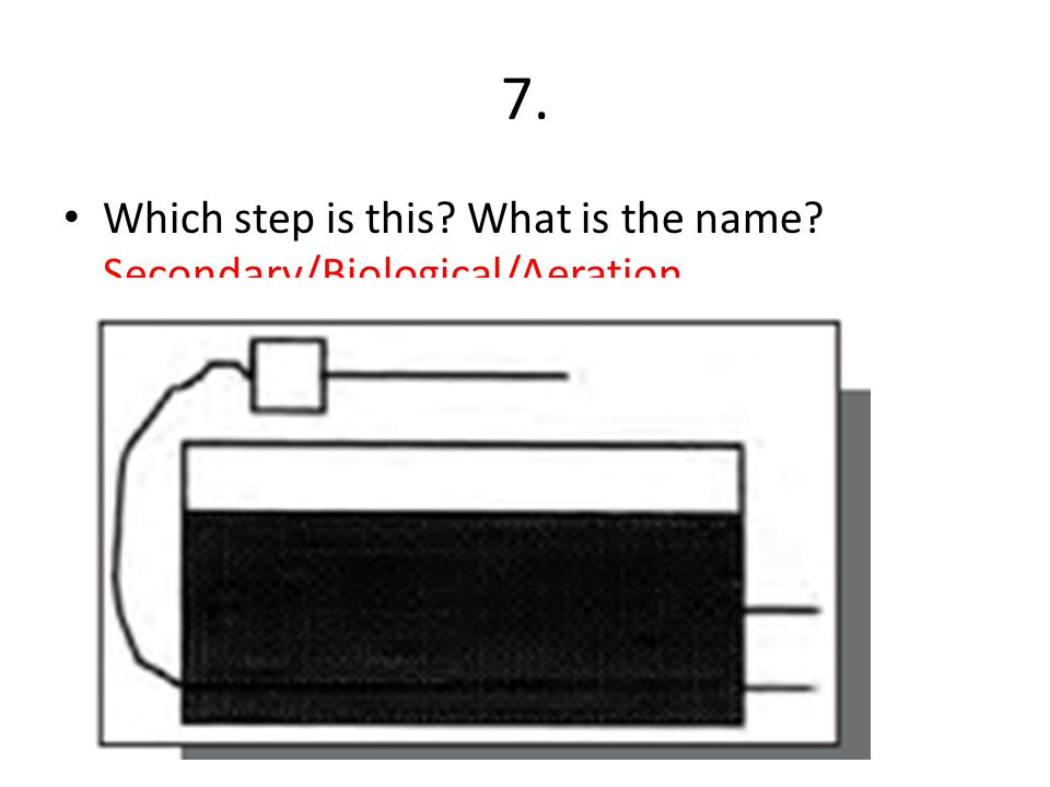 7. Which step is this What is the name Secondary/Biological/Aeration