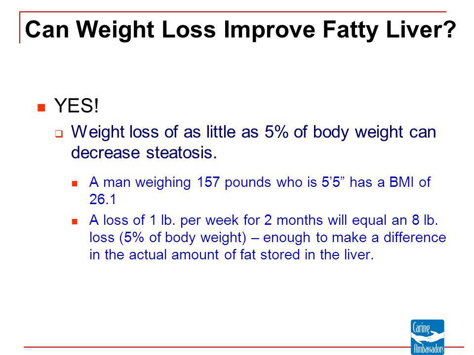 Can Weight Loss Improve Fatty Liver
