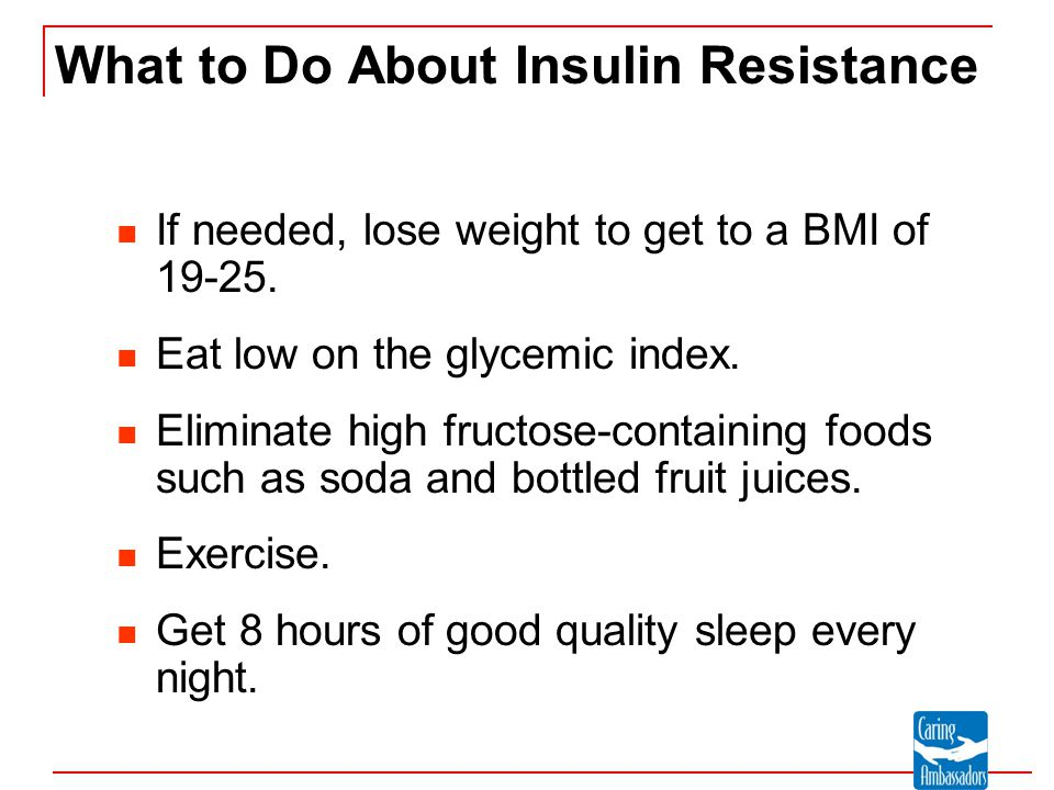 What to Do About Insulin Resistance