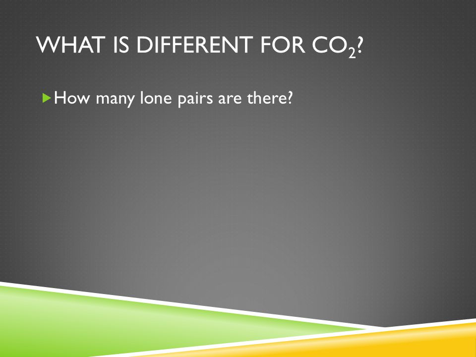 What is different for CO2