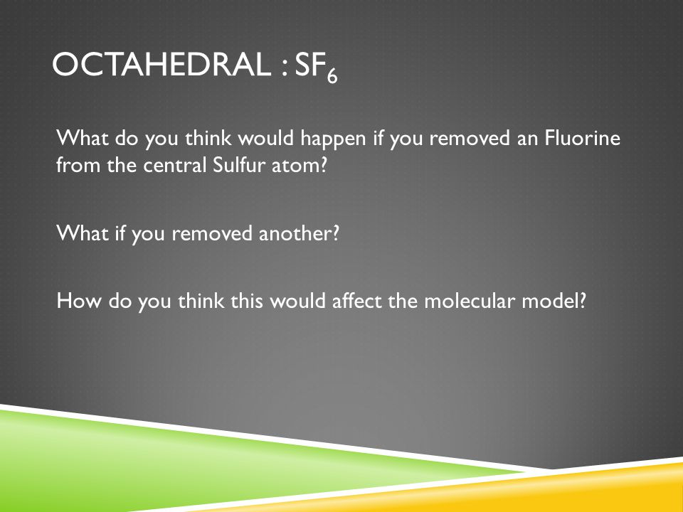 Octahedral : SF6