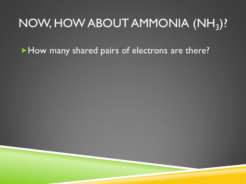 Now, how about Ammonia (NH3)