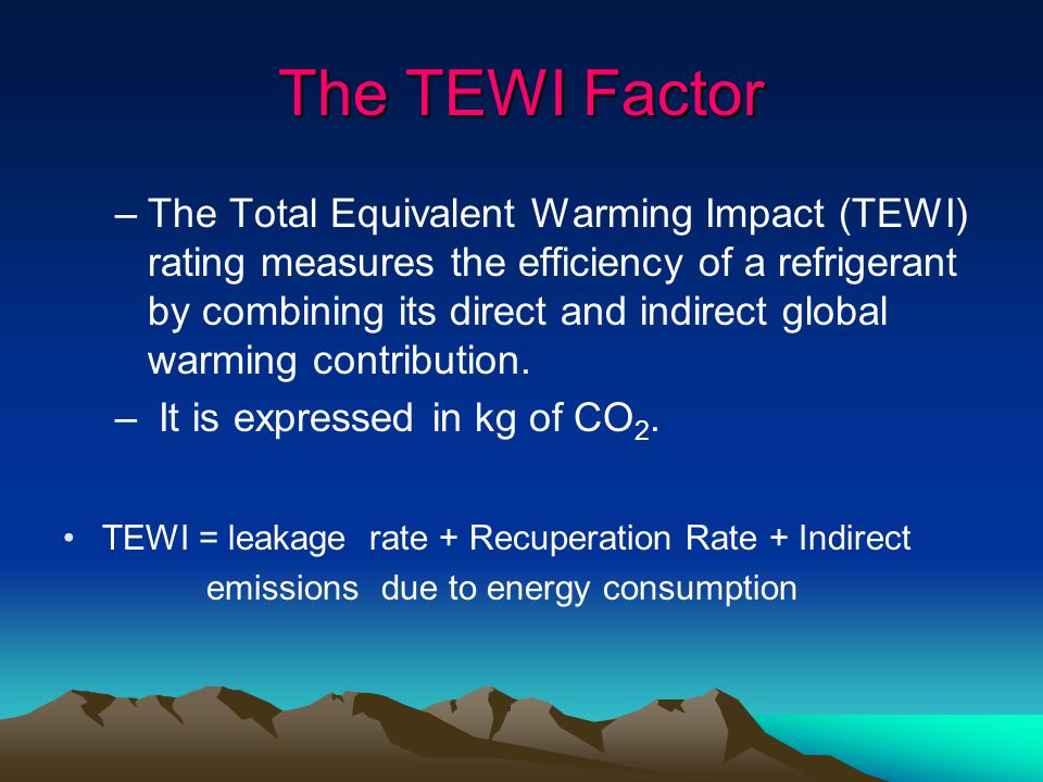 The TEWI Factor