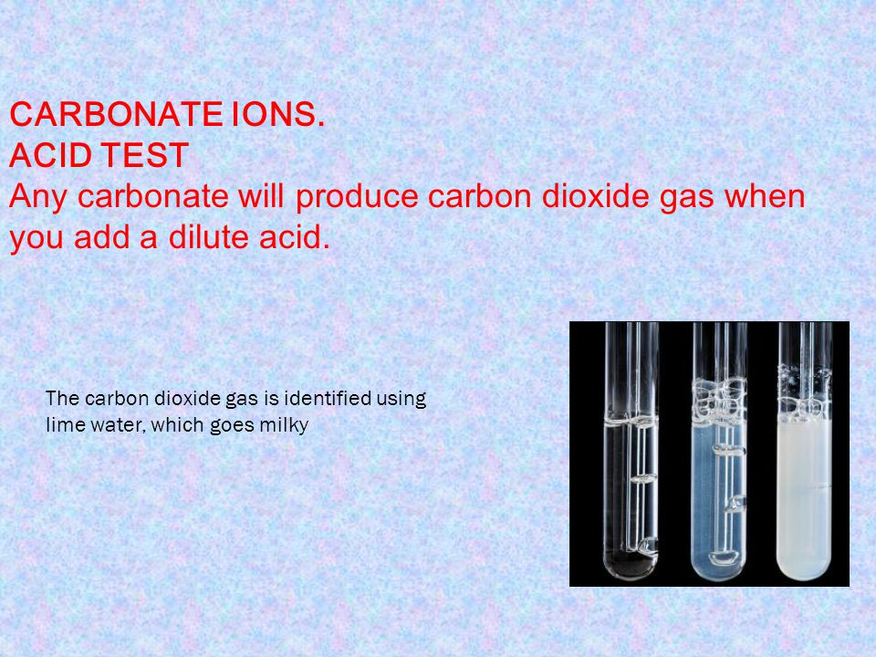 Any carbonate will produce carbon dioxide gas when