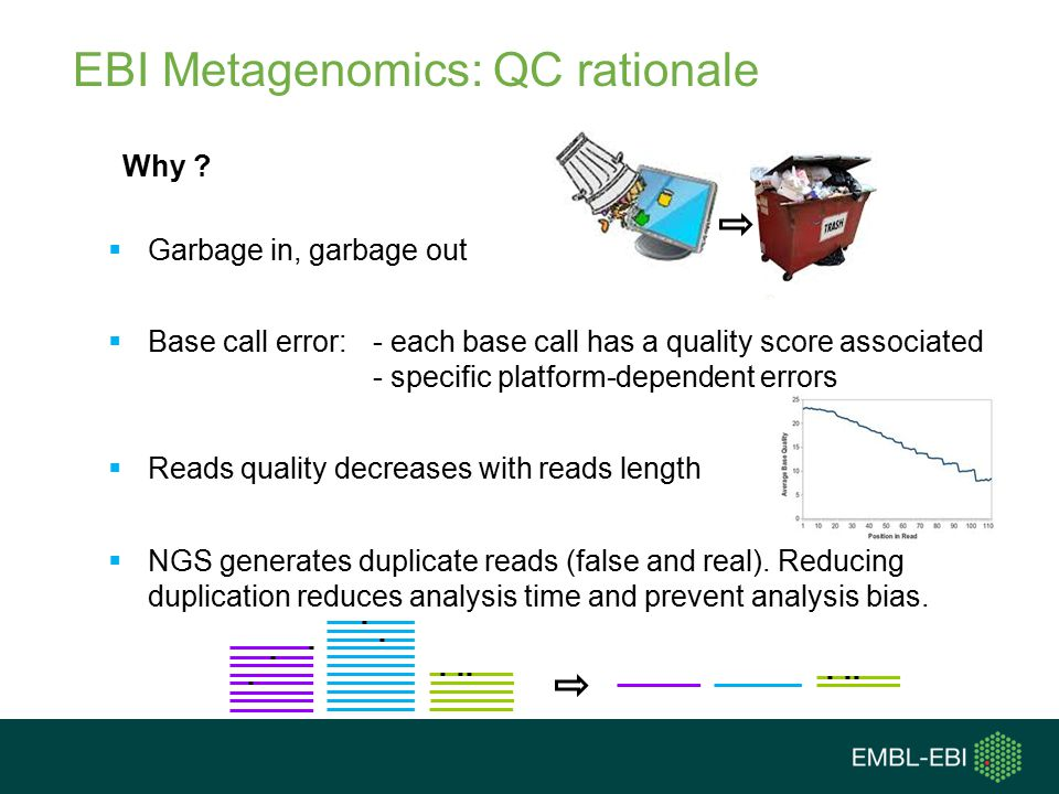 EBI Metagenomics: QC rationale