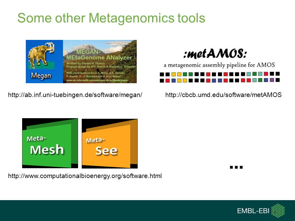 Some other Metagenomics tools