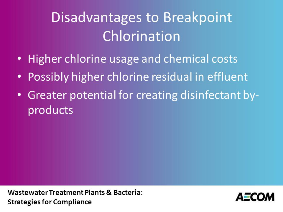 Disadvantages to Breakpoint Chlorination