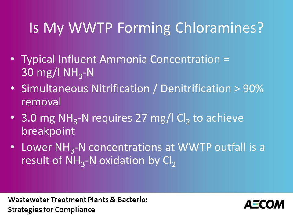 Is My WWTP Forming Chloramines