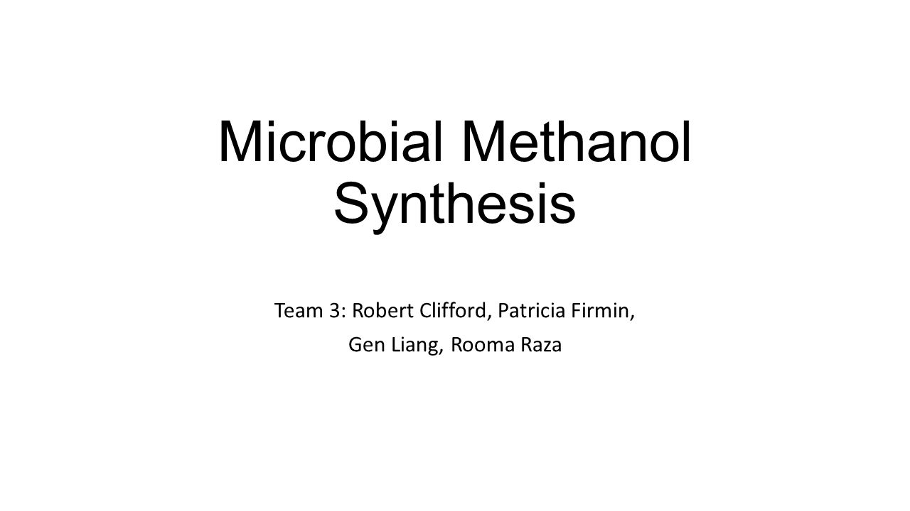 Microbial Methanol Synthesis