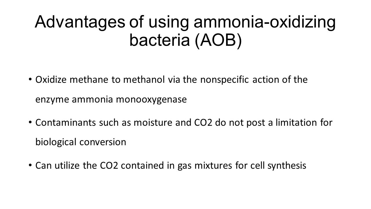 Advantages of using ammonia-oxidizing bacteria (AOB)
