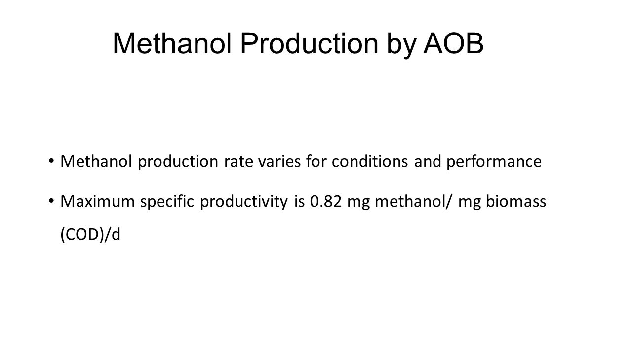 Methanol Production by AOB