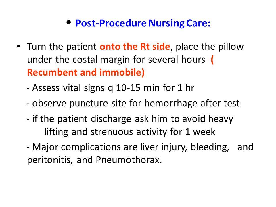 Post-Procedure Nursing Care:
