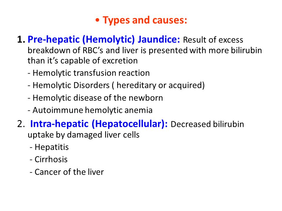 Types and causes: