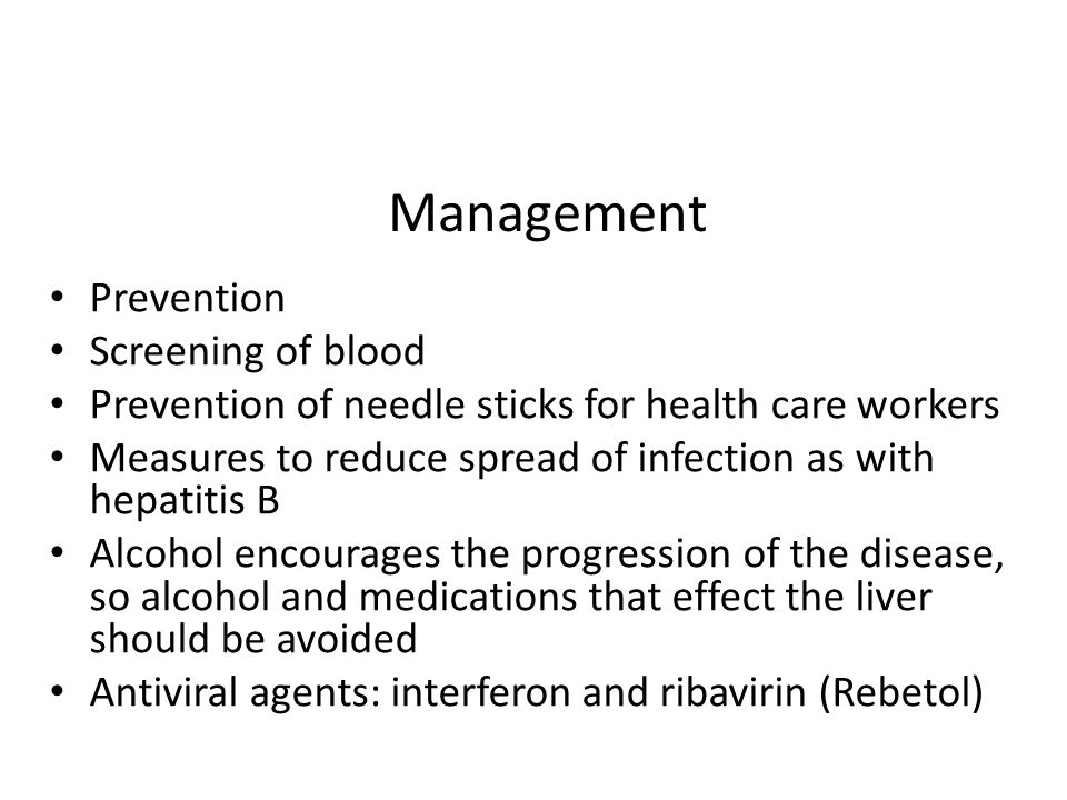 Management Prevention Screening of blood