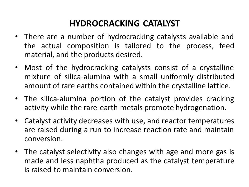 HYDROCRACKING CATALYST