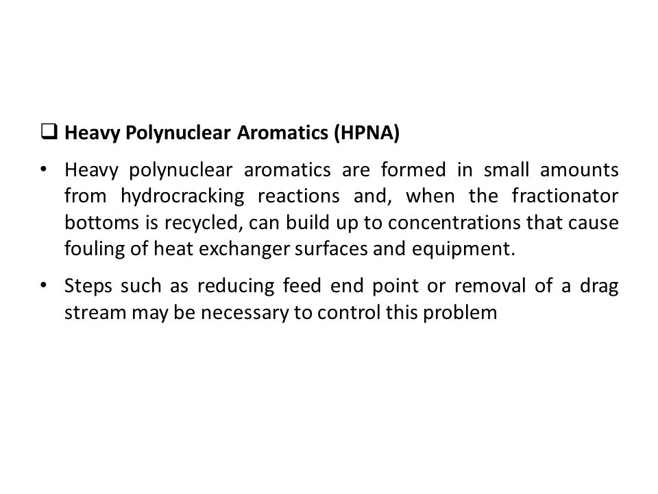 Heavy Polynuclear Aromatics (HPNA)