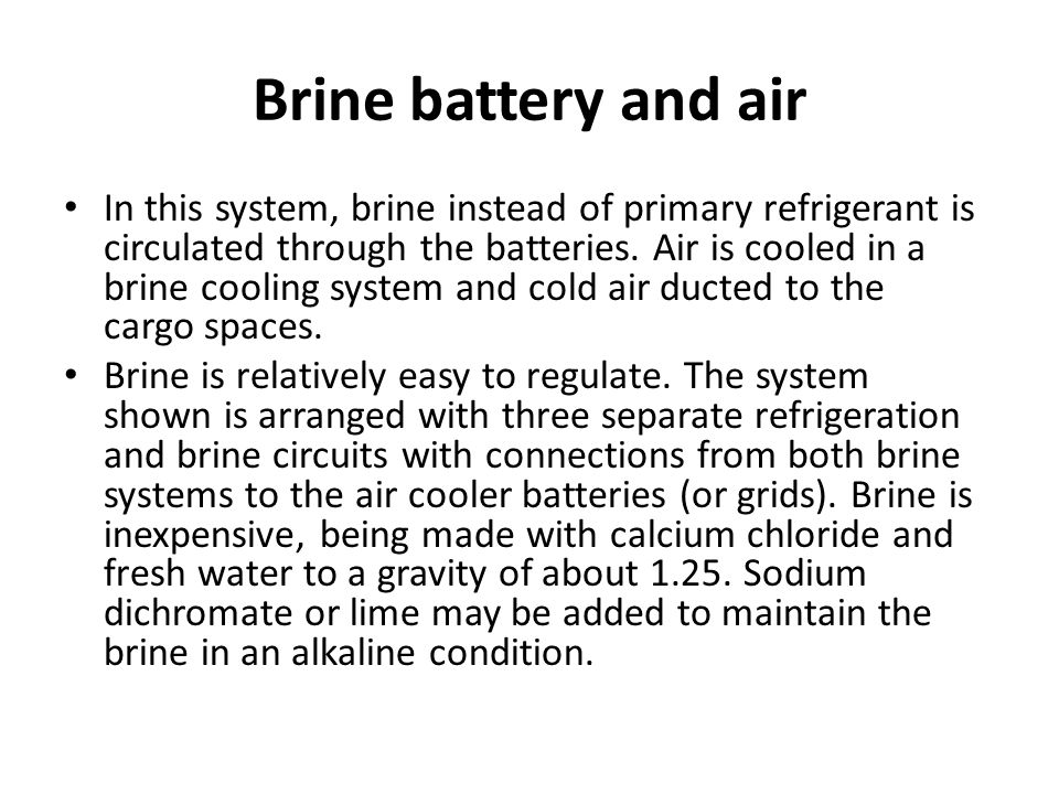 Brine battery and air