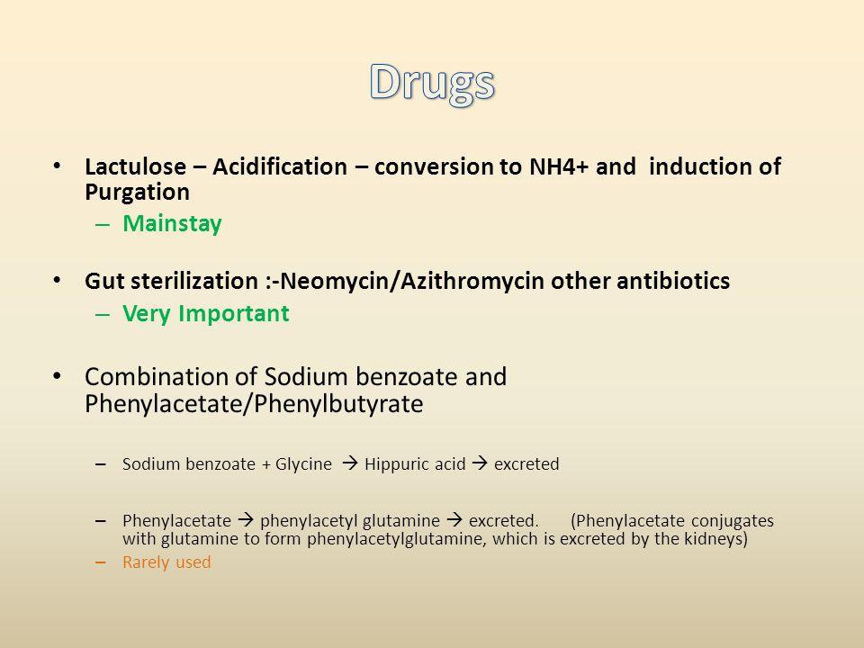 Drugs Combination of Sodium benzoate and Phenylacetate/Phenylbutyrate