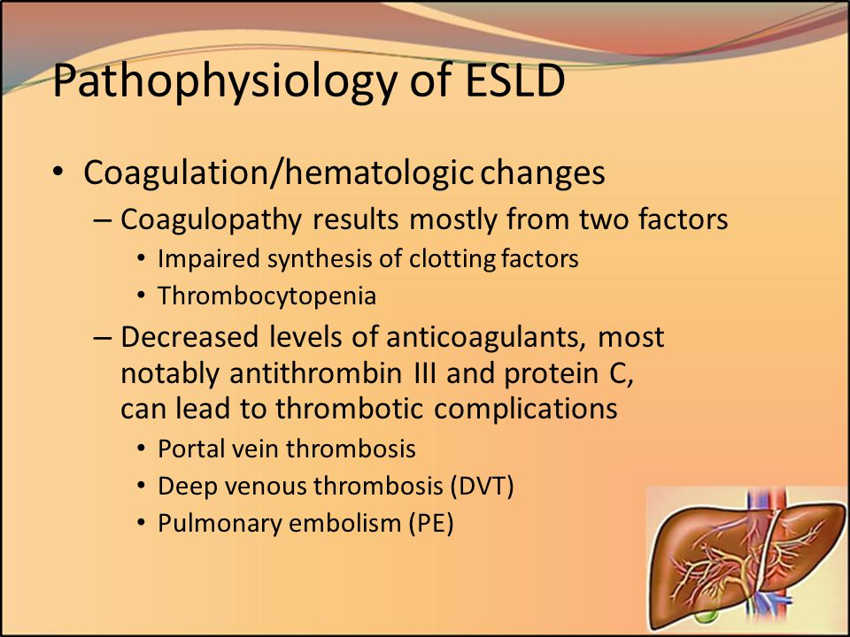 Pathophysiology of ESLD