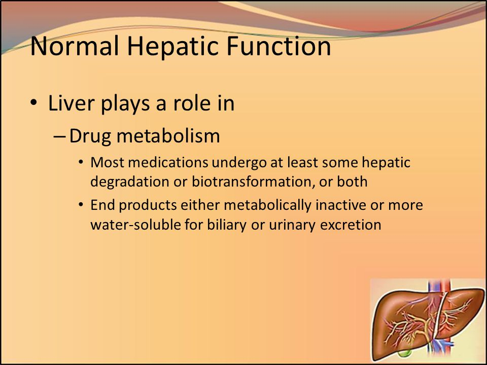 Normal Hepatic Function