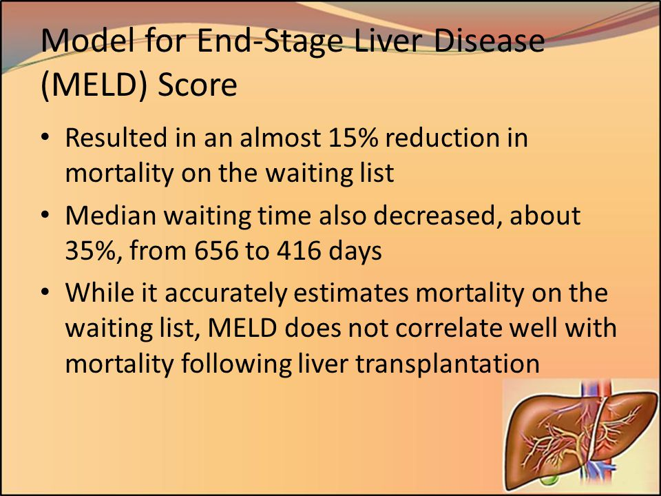 Model for End-Stage Liver Disease (MELD) Score