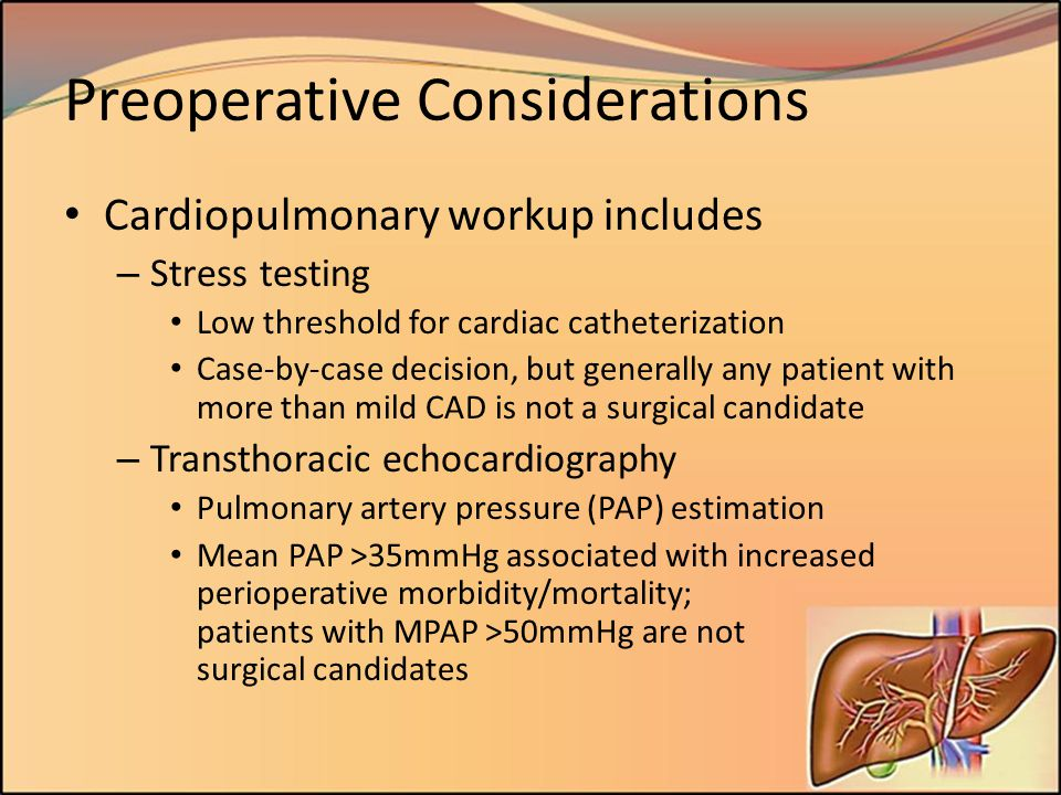 Preoperative Considerations