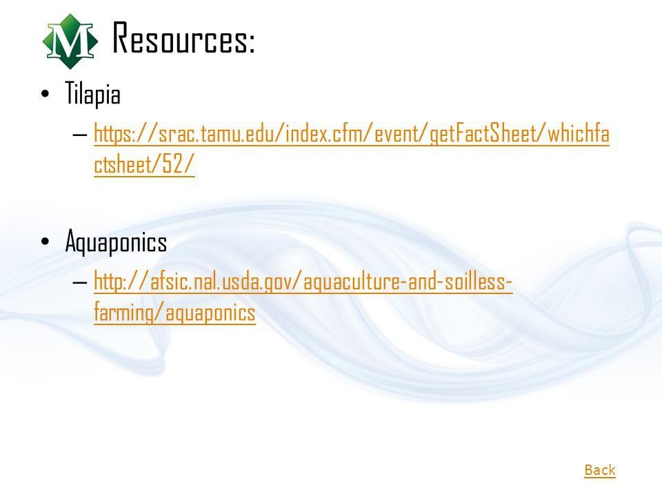 Resources: Tilapia Aquaponics