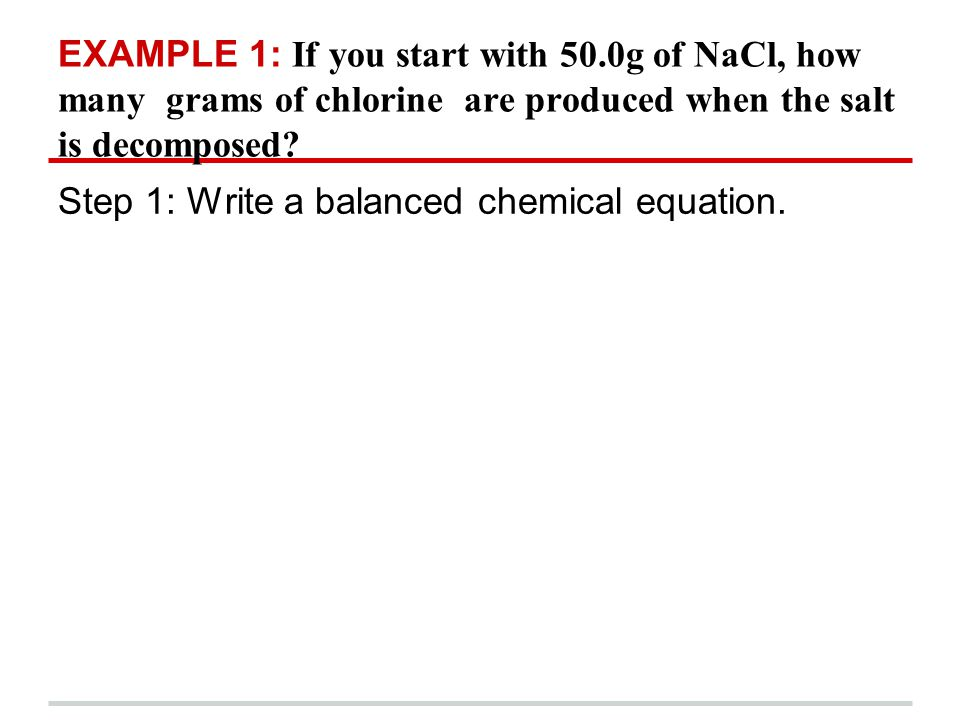 EXAMPLE 1: If you start with 50