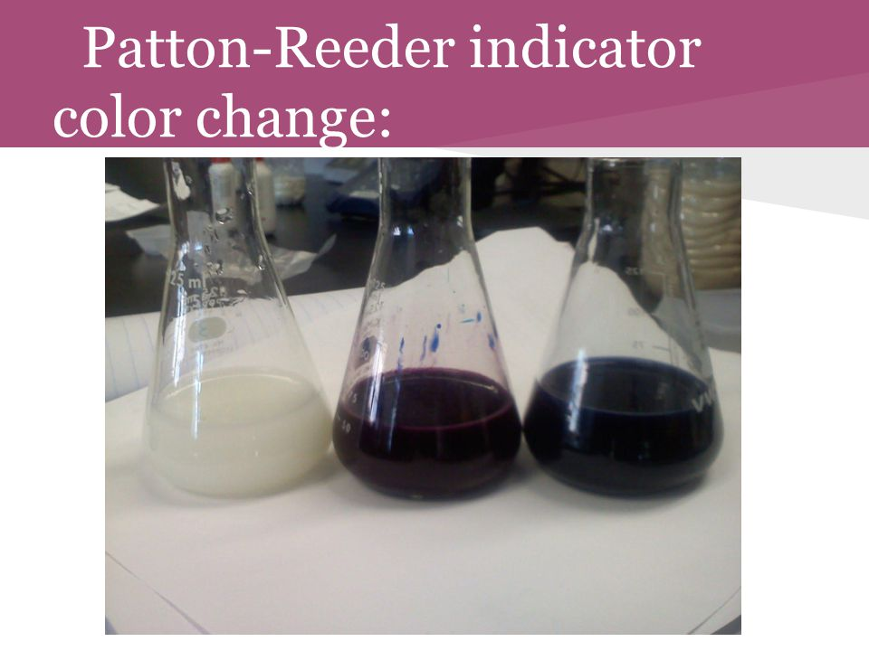 Patton-Reeder indicator color change: