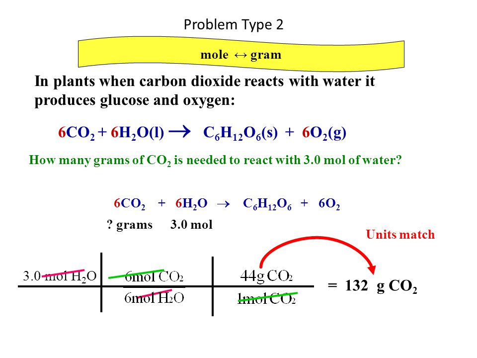 In plants when carbon dioxide reacts with water it