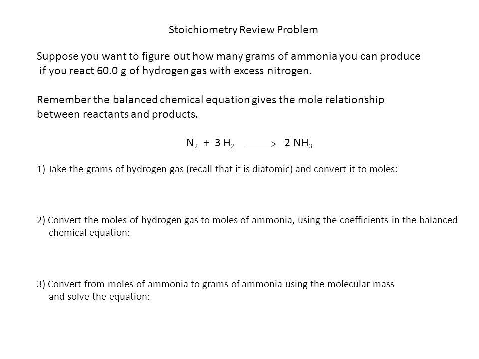 Stoichiometry Review Problem