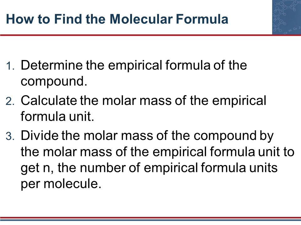 How to Find the Molecular Formula