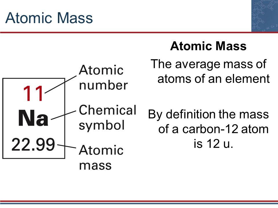Atomic weight and atomic mass (video)   Khan Academy