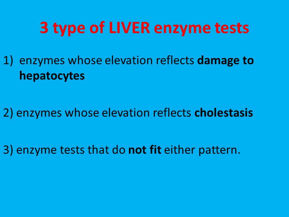 3 type of LIVER enzyme tests
