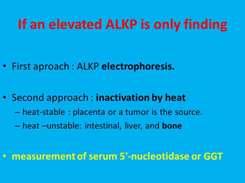 If an elevated ALKP is only finding