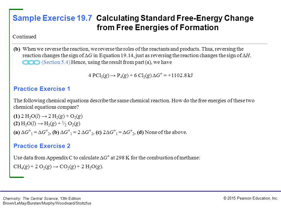 4 PCl3(g) → P4(g) + 6 Cl2(g) ΔG° = +1102.8 kJ