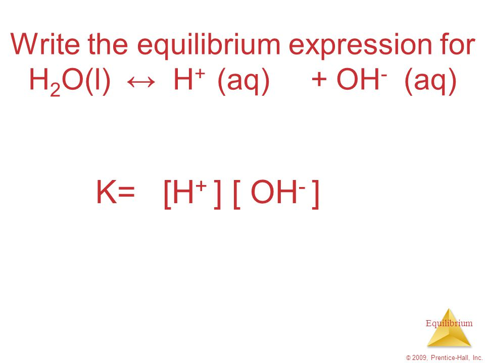 chemical reaction and equilibrium expression