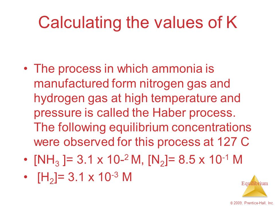 Calculating the values of K