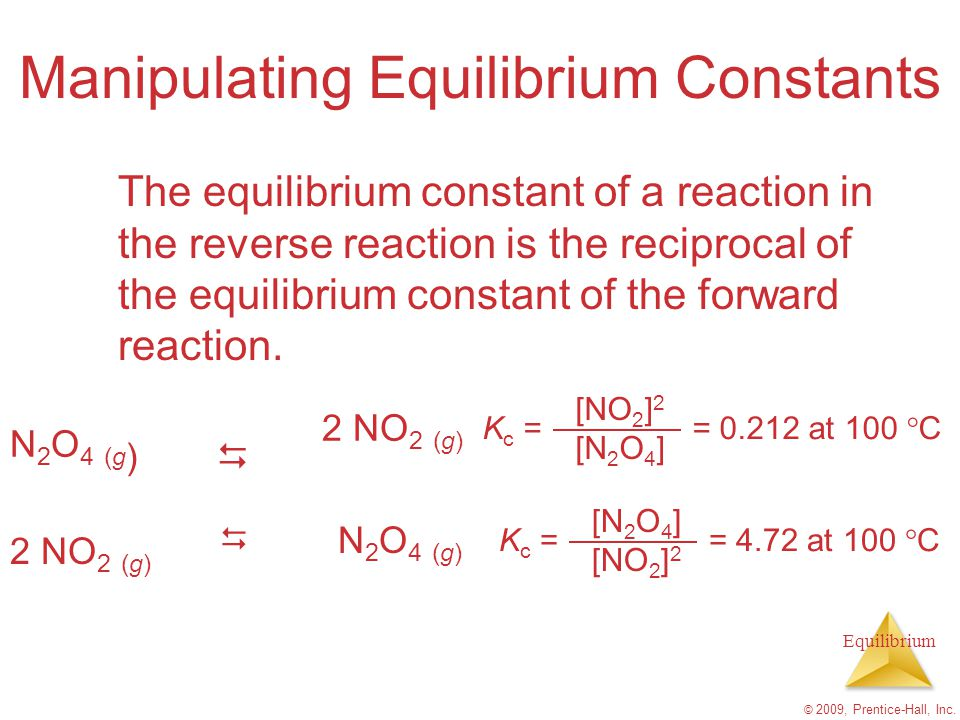 Manipulating Equilibrium Constants