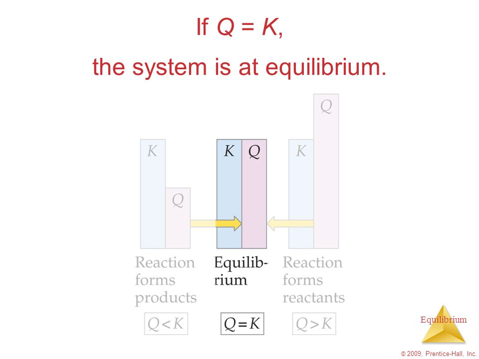 the system is at equilibrium.