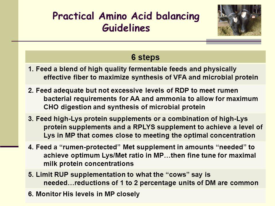Practical Amino Acid balancing Guidelines