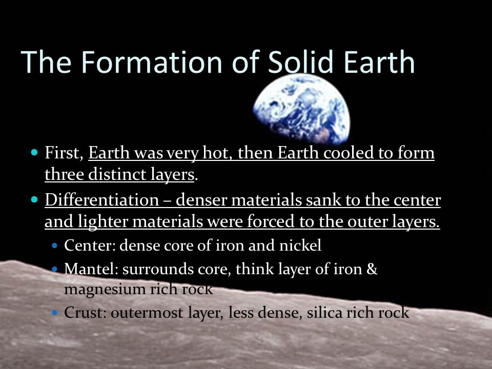 The Formation of Solid Earth
