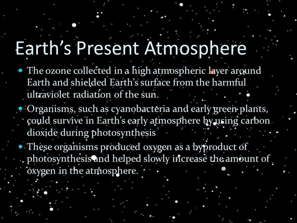 Earth's Present Atmosphere