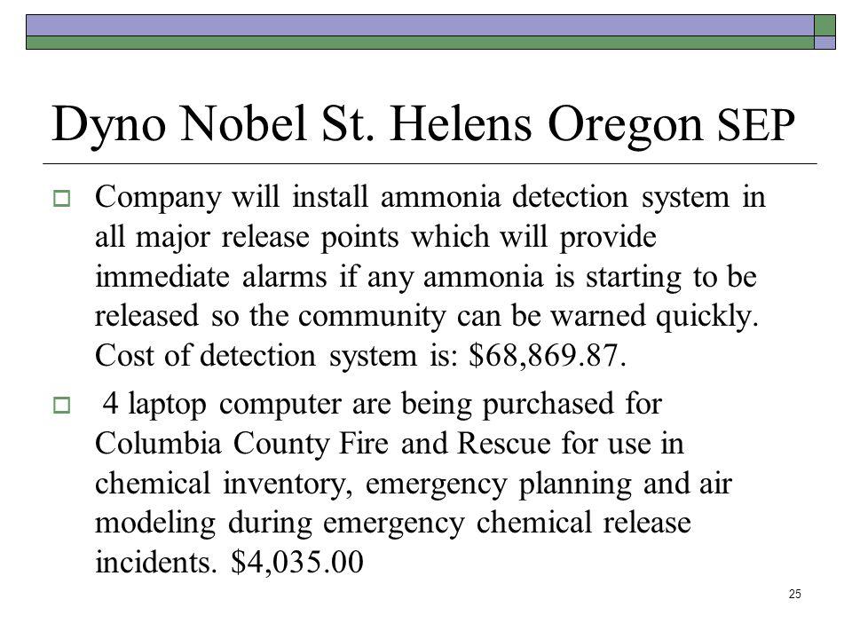 Dyno Nobel St. Helens Oregon SEP