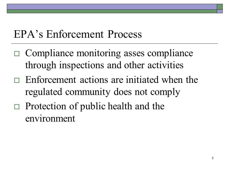 EPA's Enforcement Process