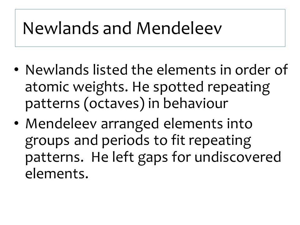 Newlands and Mendeleev