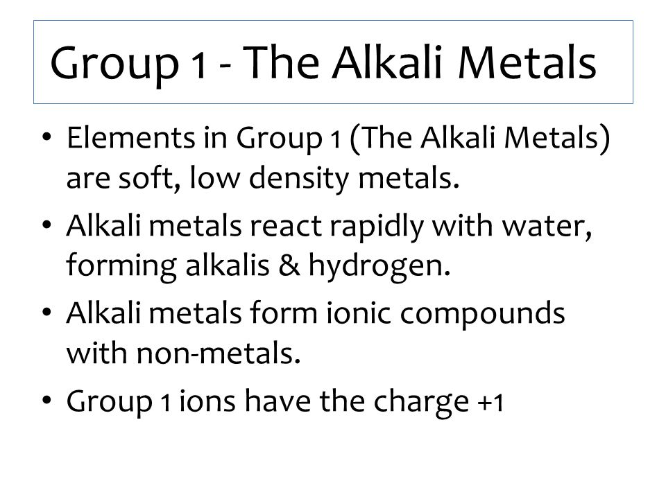 The periodic table organising elements into groups ppt video group 1 the alkali metals urtaz Choice Image