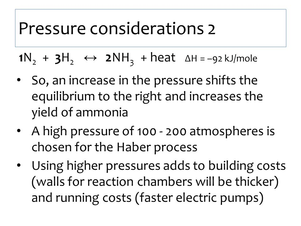 Pressure considerations 2