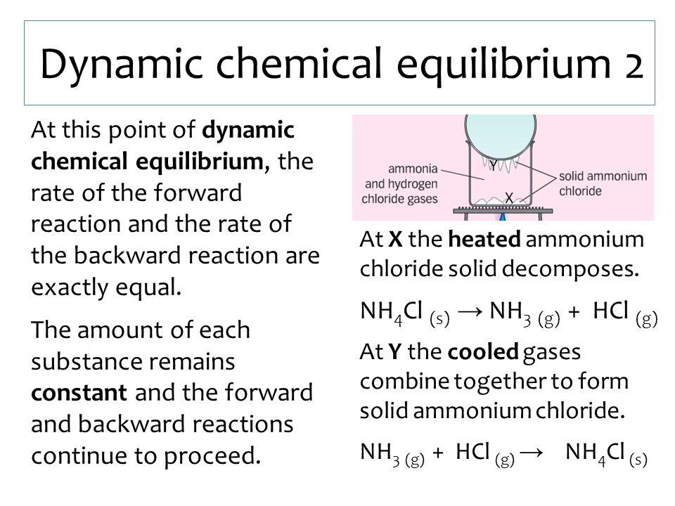 Dynamic chemical equilibrium 2
