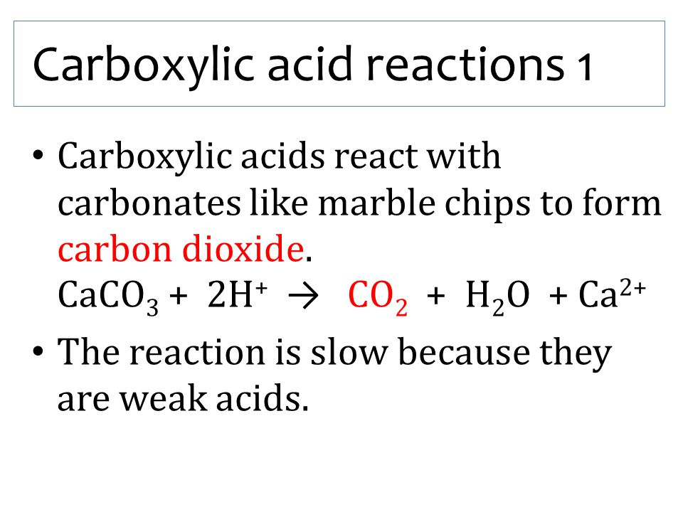 Carboxylic acid reactions 1